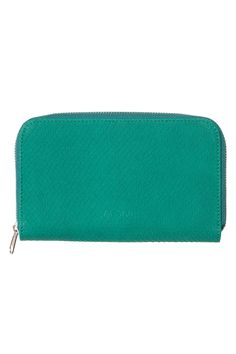 emerald green scaled wallet from MONKI