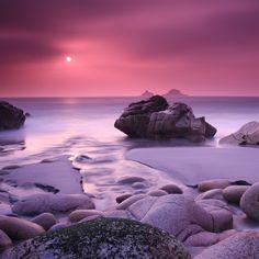 Evening Calming Rock Ocean Sea Landscape #retina #iPad #Air #wallpaper