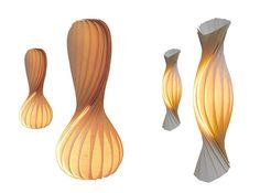 Tom Rossau - New Veneer Lamps. Enjoyed watching the process of making these amazing lamps on his personal website.