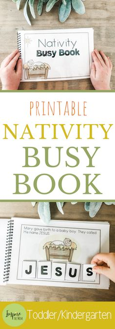 Nativity Busy Book - Inspire the Mom Learn the Christmas story with this cute, printable, Nativity Busy Book!Learn the Christmas story with this cute, printable, Nativity Busy Book! Sunday School Activities, Christmas Activities For Kids, Sunday School Lessons, Christmas Printables, Crafts For Kids, Preschool Lessons, Toddler Preschool, Toddler Puzzles, Kindergarten Projects