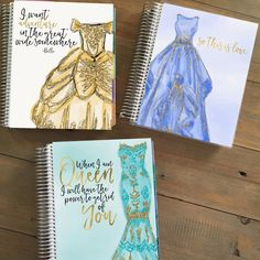 Hand drawn couture Disney princess planner covers by Stylish Planner in Etsy!