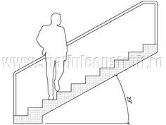 Staircases: general concepts & classifications/ Scari: notiuni generale, clasificari >> Staircase with 29° inclination/ Scara cu inclinatie de 29°