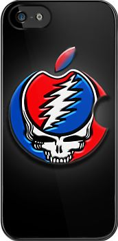 """Grateful Dead """"Steal Your Face"""" iPhone Cover by Cliff Vestergaard"""
