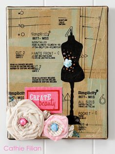 Collage This: Sewing Pattern Paper Collage