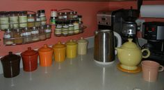Jam jars to hold teas Ball Jars, Homer Laughlin, Covered Boxes, Canisters, Teas, Tablescapes, Cookware, China, Dishes