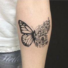 Sweet Ideas For Butterfly Tattoos Designs - Amazing Cute Ideas . - cute ideas for butterfly tattoos designs – amazing cute ideas for butterfly tattoo design - Piercing Tattoo, Hawaiianisches Tattoo, Fake Tattoo, Get A Tattoo, Temporary Tattoo, Piercings, Sternum Tattoo, Tattoo Baby, Colar Bone Tattoo