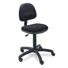 Safco : Precision Desk-Height Swivel Chair, Black Fabric -:- Sold as 2 Packs of - 1 - / - Total of 2 Each