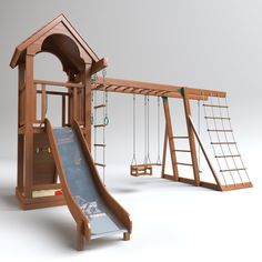 playground play ground max - Catherine Ocampo - Re-Wilding Kids Backyard Playground, Backyard Playset, Backyard For Kids, Backyard Ideas, Kids Outdoor Play, Kids Play Area, Outdoor Fun, Jungle Gym, 3d Max