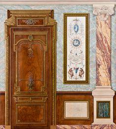 Atelier de peinture décorative de Joëlle Godefroid, Meilleur Ouvrier de France et et Bernard Barbier.