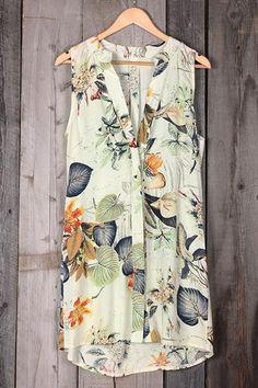 SelfieBeach Get Loose Garden Printing Shirt Dress