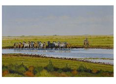 Arrimando la manada. Oleo sobre lienzo. 40 x 60cm. 2006