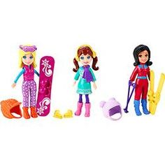 Polly Pocket Férias em Aspen Bolsinha com 3 Bonecas - Mattel