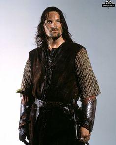 LotR: Two Towers. Aragorn's Helm's Deep battle costume. Worn on film by Viggo Mortensen.: