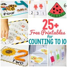 25+ sorprendentes dibujos libres para contar hasta 10. Las actividades prácticas que estimulan las habilidades motoras gruesas y la motricidad fina.