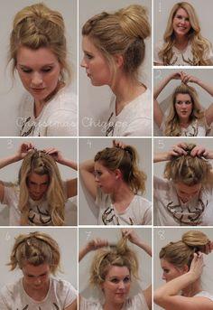 High Chignon hair tutorial