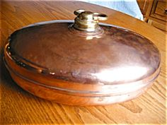 Antique copper foot warmer SOLD at More Than McCoy on TIAS