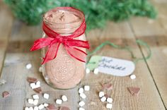 Here is an awesome, simple and delicious Christmas gift idea!! Creamy, chocolatey homemade hot Cocoa that can be packed into regular jars, or even a mason jar mug. Tie a simple tag on with instruct…