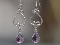 These beautiful earrings in our Sari Stone String collection are created and handmade in a small home-based workshop in the historic old city of Jaipur, India. Gemstone Earrings, Drop Earrings, Beautiful Earrings, Chakra, Amethyst, Gemstones, Silver, Handmade, Jewelry