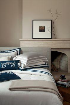 Kit colcha e jogo de cama Orleans e almofadas bordadas Gioia