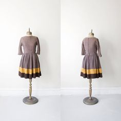 1950s vintage designer wool knit full skirt  color by misovintage, $139.99