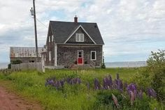 Looking for a Prince Edward Island vacation rental? Browse the best selection of PEI vacation cottages to rent. Book your vacation today! Beach Houses For Rent, Bedroom Green, Prince Edward Island, Outdoor Fire, Walk In Shower, Real Estate, Cabin, Vacation, House Styles