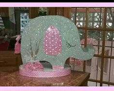 Buzon elefante rosa baby shower