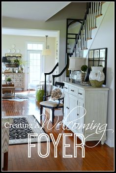 CREATING A WELCOMING FOYER-ideas for making your foyer fabulous and friendly-stonegableblog.com
