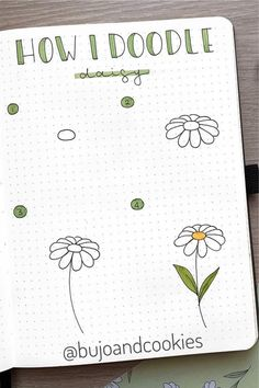 If you want to add a super cute floral theme to your bullet journal spreads this month, check out these daisy monthly covers, habit trackers, weekly spreads and more for new ideas / inspiration! Bullet Journal Agenda, Bullet Journal Paper, Bullet Journal Lettering Ideas, Bullet Journal Aesthetic, Bullet Journal Writing, Bullet Journal School, Bullet Journal Spread, Bullet Journal Ideas Pages, Bullet Journal Inspiration