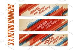 Retro banners template by Orson on @creativemarket