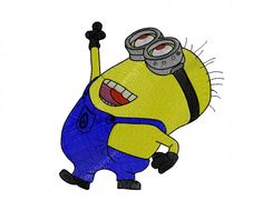 Dancing minion embroidery