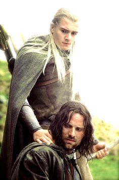 Orlando Bloom and Viggo Mortensen - The Lord of the Rings (Mortensen is my favorite :)