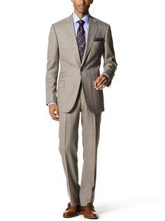 Subtle Pebble Plaid w/ Blue Accents | Spring Men's Fashion Trends | J. Hilburn Custom Clothing for Men