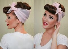 The Freckled Fox - a Hairstyle Blog: Modern Pin-up Week: #4 - Easy Faux Bangs