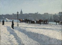 Winter Scene by Alfred Bergström, 1899. Nationalmuseum Sweden, CC BY-SA