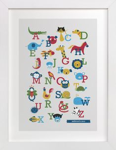 Animal A to Z by Anais Lee at minted.com