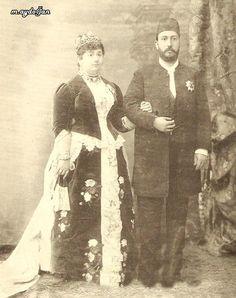 Mısır Hidivi Muhammed Tevfik Paşa ve eşi Hidiva Emine İlhami Hanımefendi