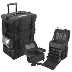 Kemier studio makeup case Omni-directional wheels 2 in 1 Professional Soft Sided,Removable,Artist Rolling Makeup Train Case ,Cosmetic Organizer w/Storage Drawers. For product & price info go to:  https://beautyworld.today/products/kemier-studio-makeup-case-omni-directional-wheels-2-in-1-professional-soft-sidedremovableartist-rolling-makeup-train-case-cosmetic-organizer-w-storage-drawers/