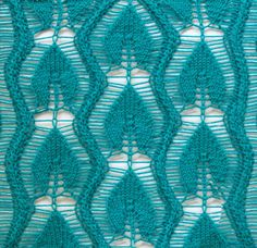 Blattmuster Lace Knitting Stitches, Crochet Stitches Patterns, Knitting Charts, Lace Patterns, Knitting Designs, Knitting Projects, Hand Knitting, Stitch Patterns, Knitting Patterns