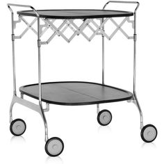 Kartell Gastone Trolley - Black (4,970 CNY) ❤ liked on Polyvore featuring home, kitchen & dining, bar tools, black, drinks trolley, drinks tray, drink cart, wheeled storage cart and wheeled cart