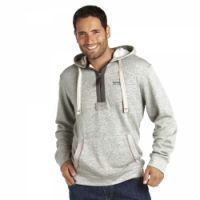 £24.99- Regatta Mens Windward Hoody Grey Marl  Keep warm and look stylish in the Winward Hoody.  260gm 80% cotton/20% polyester loop backed jersey. Grown on hood. Ribbed cuffs and hem