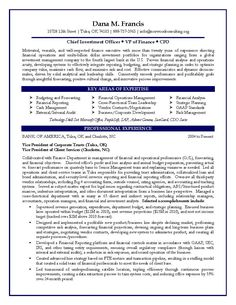 CFO Resume Sample. Vice President of Finance, Director of Finance ...