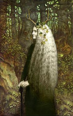 "The Crone. celtic-forest-faerie: "" {Autumn Spirit} by {Romany Soup} "" Magick, Witchcraft, Wiccan, Pagan Art, Celtic Mythology, Sacred Feminine, Devine Feminine, Wise Women, Green Man"