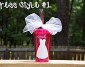 Personalized Acrylic Tumbler Cup Lid Straw, BPA Free Plastic, 16 oz- Bride Bridesmaid Bachelorette Wedding Party DRESS STYLE 1