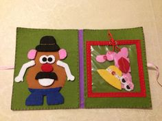 Felt Mr & Mrs Potato Head quiet book page / play mat and accessories