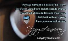 Happy anniversary message to husband words of wisdom