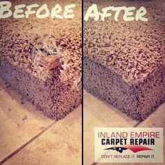 Beautiful repair by Inland Empire Carpet Repair 909-436-6080