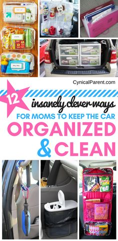 car organization ideas If you have kids, you know how difficult it can be to keep your vehicle clean and organized. Here are 12 insanely clever kid-friendly car organization ideas for moms and dads! Car Organization Kids, Organisation Hacks, Organizing Tips, Bathroom Organization, Deep Cleaning Tips, Cleaning Hacks, Car Cleaning, Clever Kids, Organized Mom