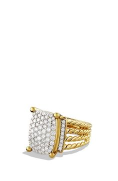 David Yurman 'Wheaton' Ring with Diamonds in Gold available at #Nordstrom