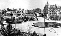 Colonia Roma: Plazas Río de Janeiro, Miravalle –hoy Cibeles—, Romita, Ajusco y Tabasco—hoy Pushkin.
