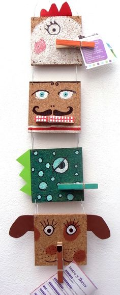 Petit-On cork tile memo holders homemade gift idea via The Crafty Crow